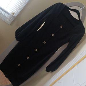 NWOT black button down dress